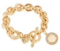 Armreifen Medaillon small gold