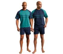 Shorty (2 Stück) Pyjamas marine / petrol