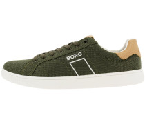 Sneaker oliv / hellbraun