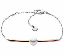 Armband rosegold / silber / weiß