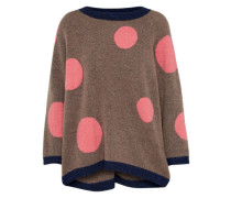 Pullover 'redbluff' beigemeliert / dunkelblau / rosa
