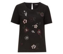 Bluse bestickt schwarz