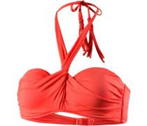 Bikini Oberteil Damen orangerot