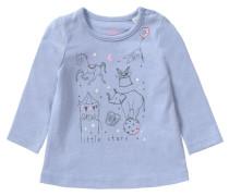 Baby Langarmshirt für Mädchen blau