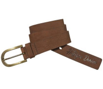Hilfiger Denim Gürtel »Basic leather belt 1« dunkelbraun