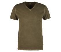 V-Neck-Shirt mit Wascheffekt