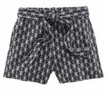 Shorts (Set 2 tlg. mit Bindegürtel) grau / schwarz / weiß