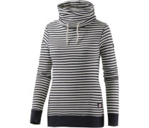 Sweatshirt marine / weiß