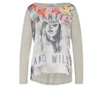 Shirt 'Wanted and Wild' grau