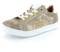 Ledersneaker gold
