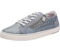 Sneaker mit Strass blau / silber
