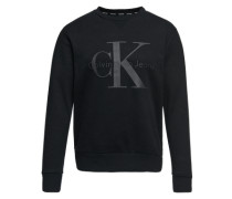 Sweatshirt mi Label-Print 'Hatch 5' schwarz