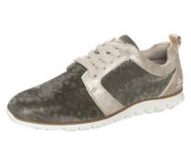 Sneaker im Glitzer-Look grau / gold