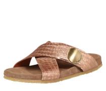 Sandale in Metallic-Optik gold / rosé