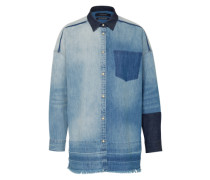 Jeans-Hemd 'Customised denim' blau