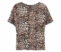Shirtbluse 'Girit' beige / dunkelbraun / altrosa / schwarz