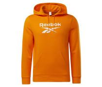 Hoodie weiß / orange