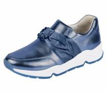 Comfort Sneaker mit Schleife blau / weiß
