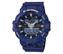 Chronograph 'ga-700-2Aer' dunkelblau / schwarz