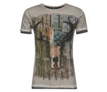 T-Shirt 'MT Cowboys round' grau / silbergrau / mischfarben