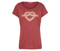 T-Shirt 'Leevde' dunkelrot