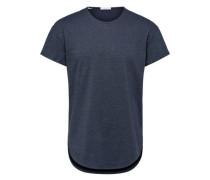 Klassisches T-Shirt blaumeliert