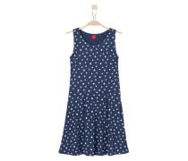 Jerseykleid mit Sternenmuster blau / weiß