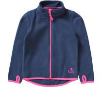 Fleecejacke für Mädchen blau / pink