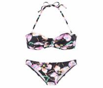 Beachwear Bandeau-Bikini mischfarben / schwarz
