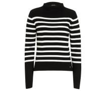 Streifenpullover schwarz / weiß