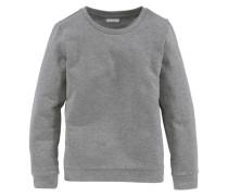 Sweatshirt mit klassischem Rundhalsausschnitt für Mädchen graumeliert