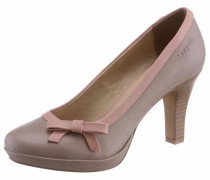 Pumps taupe / rosa