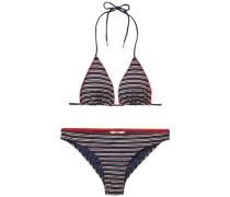 Bikini 'thdw Triangle Bikini 17' nachtblau / rot / weiß