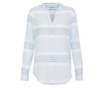 Bluse im Streifenmuster hellblau / weiß