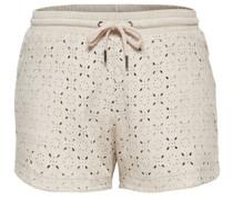 Wildlederlook-Shorts grau