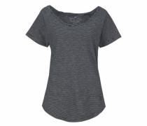 T-Shirt 'Ringel' schwarz / weiß