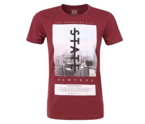 T-Shirt mit New York-Print dunkelrot