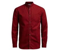 Klassisches Langarmhemd rot