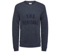 Crew-Neck-Sweatshirt blau
