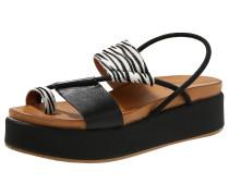 Sandale naturweiß / schwarz