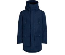 Parka-Jacke blau
