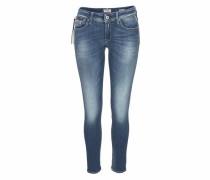 Skinny-fit-Jeans 'luz Coinzip' blue denim