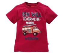 """T-Shirt """"Ich will Feuerwehrmann werden"""" für Jungen rot"""