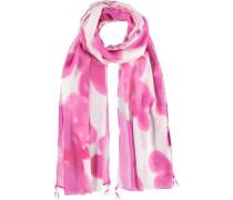 Schal 'Teana' pink / naturweiß