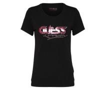 T-Shirt 'lover' pink / schwarz