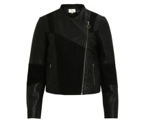 Leder-Jacke 'visusan Leather Jacket' schwarz