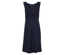 Kleid dunkelblau / weiß