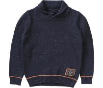 Pullover für Jungen navy / koralle