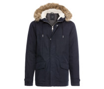 Jacke 'mid Cotton Parka With Fur' navy