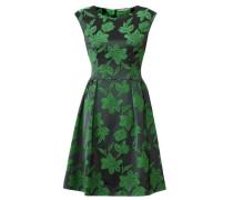 Jacquardkleid grün / schwarz
